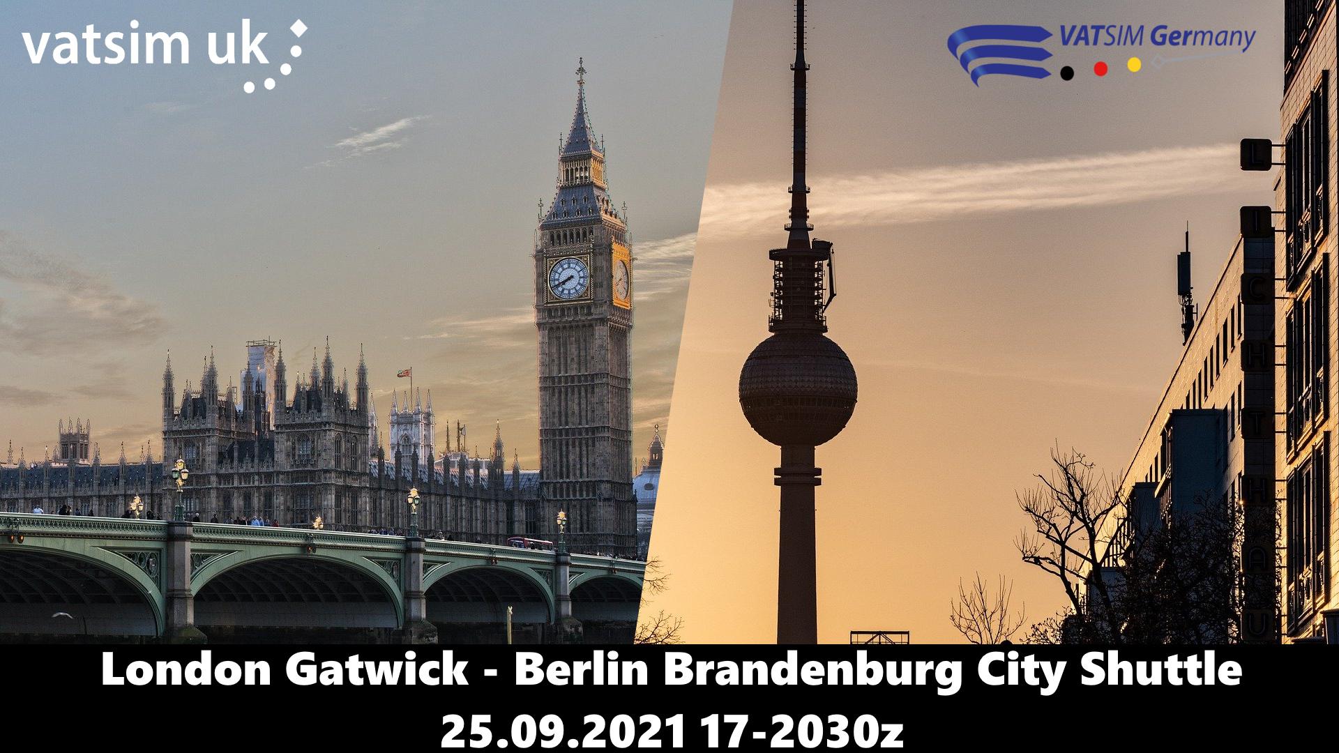 London Gatwick-Berlin Brandenburg City Shuttle - Virtual Norwegian Events