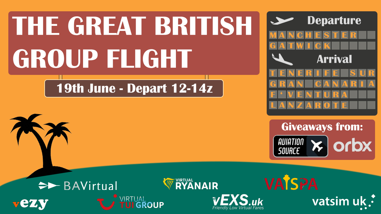 The Great British Group Flight - Virtual Norwegian Events