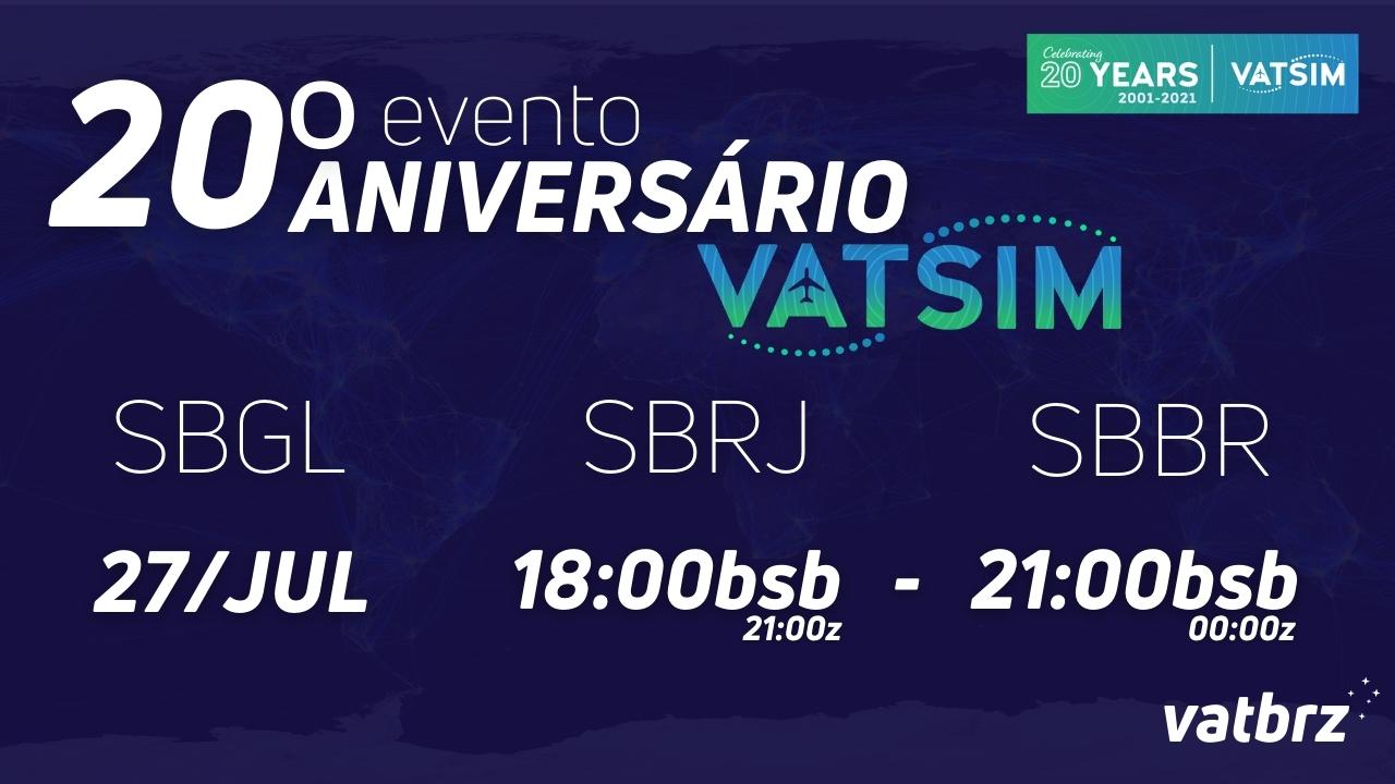 VATSIM 20 ANNIVERSARY: BRAZIL - Virtual Norwegian Events