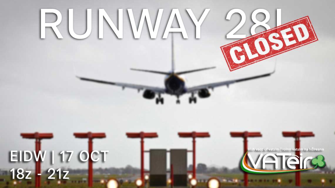 DUBLIN NOTAM   RWY28L CLOSED - Virtual Norwegian Events