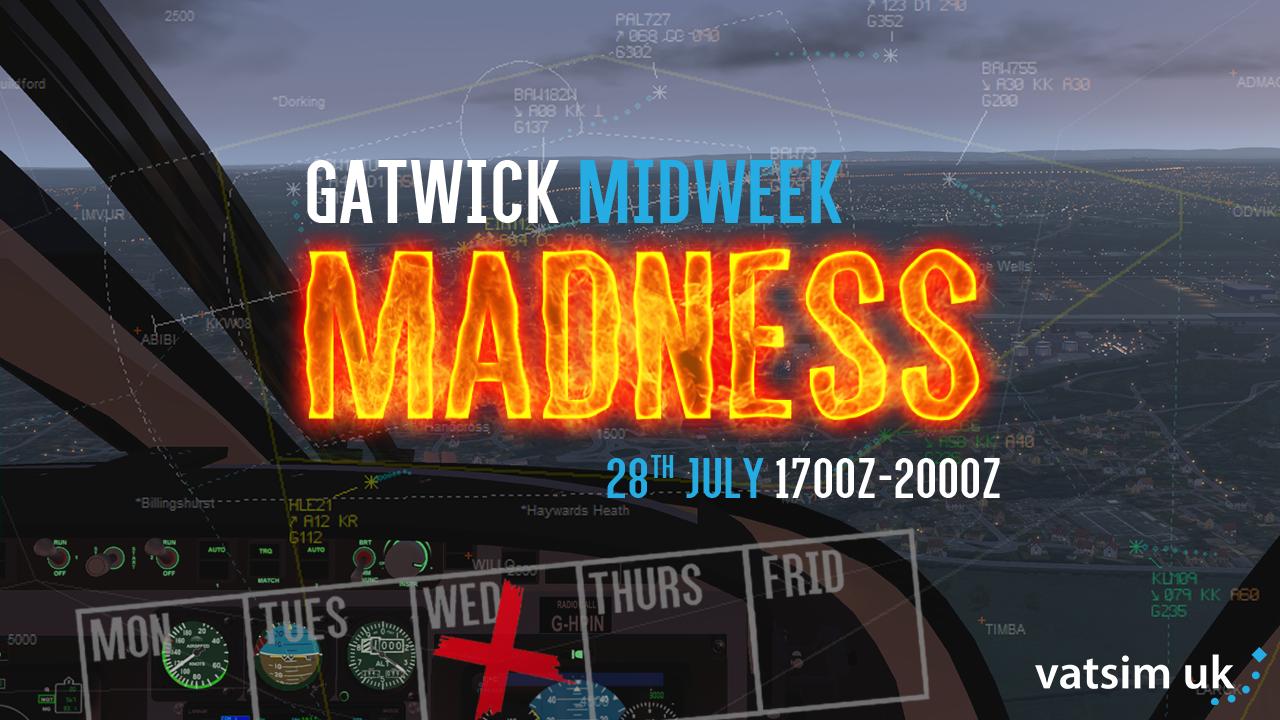 Gatwick Midweek Madness - Virtual Norwegian Events